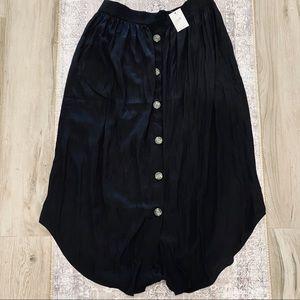 J. Jill black soft stretchy button down maxi skirt